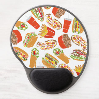 Colorful Pattern Illustration Fast Food Gel Mouse Pad