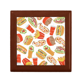 Colorful Pattern Illustration Fast Food Gift Box