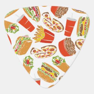 Colorful Pattern Illustration Fast Food Guitar Pick