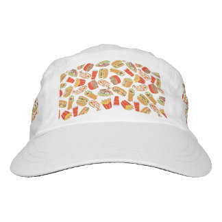 Colorful Pattern Illustration Fast Food Hat