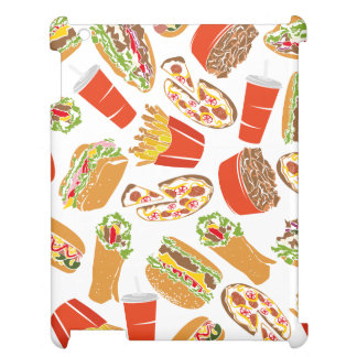 Colorful Pattern Illustration Fast Food iPad Cases