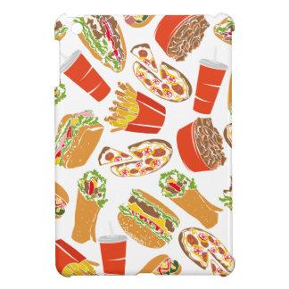 Colorful Pattern Illustration Fast Food iPad Mini Cases