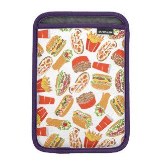 Colorful Pattern Illustration Fast Food iPad Mini Sleeve