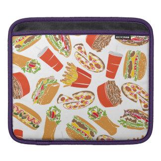 Colorful Pattern Illustration Fast Food iPad Sleeve