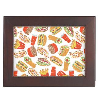 Colorful Pattern Illustration Fast Food Keepsake Box