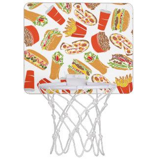 Colorful Pattern Illustration Fast Food Mini Basketball Hoop