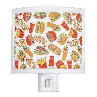 Colorful Pattern Illustration Fast Food Night Light