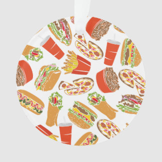 Colorful Pattern Illustration Fast Food Ornament