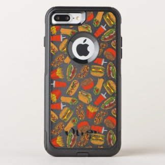 Colorful Pattern Illustration Fast Food OtterBox Commuter iPhone 8 Plus/7 Plus Case