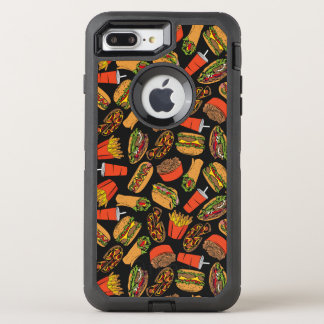 Colorful Pattern Illustration Fast Food OtterBox Defender iPhone 8 Plus/7 Plus Case