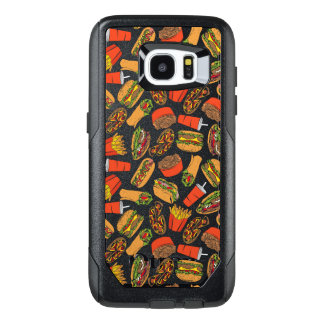 Colorful Pattern Illustration Fast Food OtterBox Samsung Galaxy S7 Edge Case