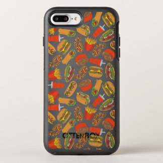 Colorful Pattern Illustration Fast Food OtterBox Symmetry iPhone 8 Plus/7 Plus Case