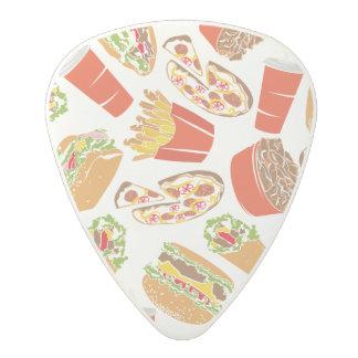 Colorful Pattern Illustration Fast Food Polycarbonate Guitar Pick