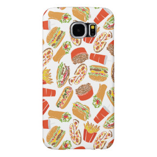 Colorful Pattern Illustration Fast Food Samsung Galaxy S6 Case