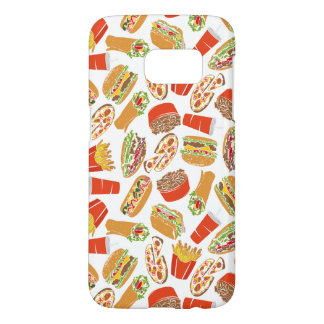 Colorful Pattern Illustration Fast Food Samsung Galaxy S7 Case