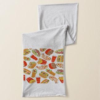 Colorful Pattern Illustration Fast Food Scarf