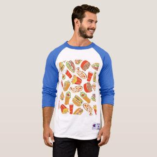 Colorful Pattern Illustration Fast Food T-Shirt