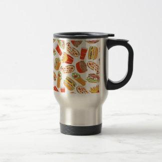 Colorful Pattern Illustration Fast Food Travel Mug