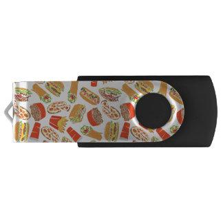Colorful Pattern Illustration Fast Food USB Flash Drive