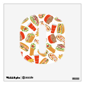 Colorful Pattern Illustration Fast Food Wall Decal