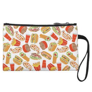 Colorful Pattern Illustration Fast Food Wristlet