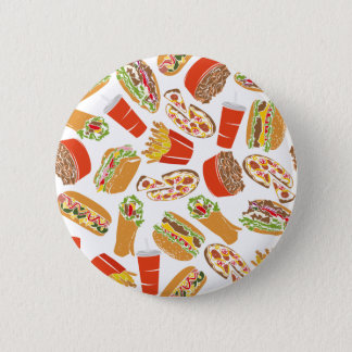 Colorful Pattern illustration nearly Food 2 Inch Round Button