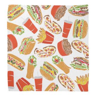 Colorful Pattern illustration nearly Food Bandana