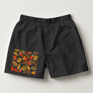 Colorful Pattern illustration nearly Food Boxers