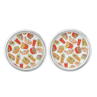 Colorful Pattern illustration nearly Food Cuff Links