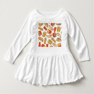 Colorful Pattern illustration nearly Food Dress