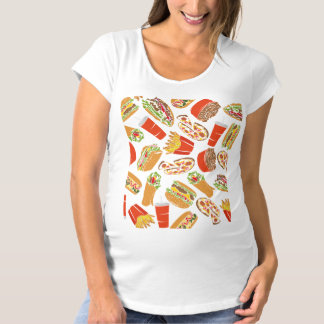 Colorful Pattern illustration nearly Food Maternity T-Shirt
