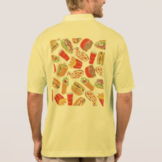 Colorful Pattern illustration nearly Food Polo Shirt