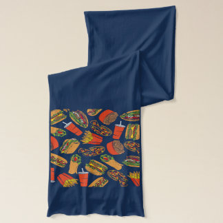 Colorful Pattern illustration nearly Food Scarf