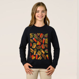 Colorful Pattern illustration nearly Food Sweatshirt