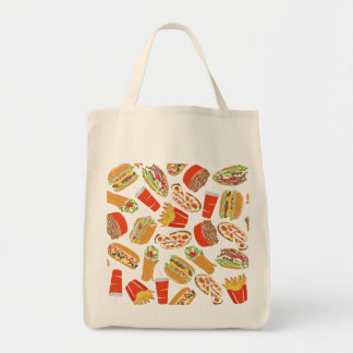 Colorful Pattern illustration nearly Food Tote Bag