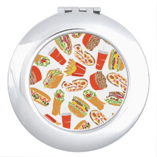 Colorful Pattern illustration nearly Food Travel Mirror
