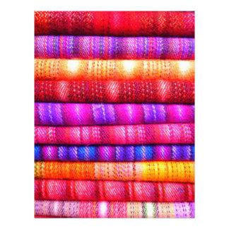 Colorful pattern letterhead