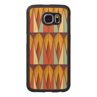 Colorful pattern wood phone case