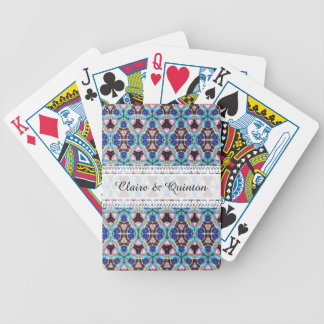 Colorful patterned bicycle playing cards