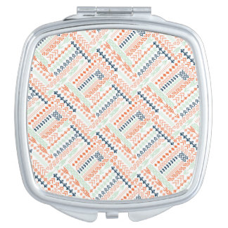 Colorful patterned design mirrors for makeup