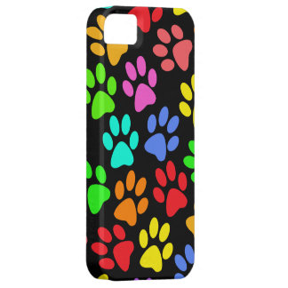 Colorful Paw Prints Collage iPhone 5 Cover