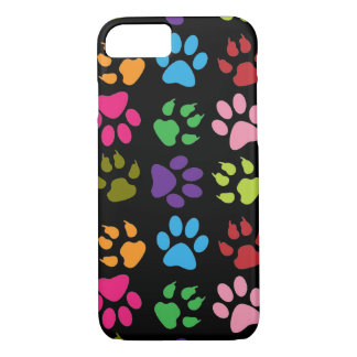 Colorful Paw Prints iPhone 7 Case