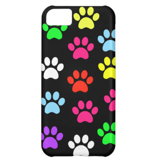 Colorful Pawprints iPhone 5C Cases