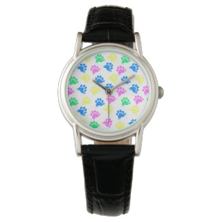 Colorful Paws Print- Wrist Watch Women