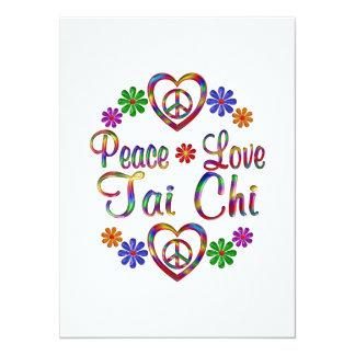 Colorful Peace Love Tai Chi Card