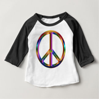 Colorful Peace Sign Baby T-Shirt