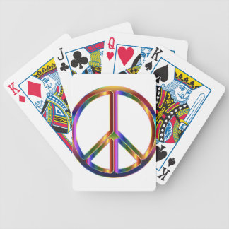 Colorful Peace Sign Bicycle Playing Cards