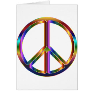 Colorful Peace Sign Card