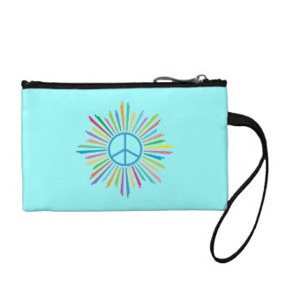 Colorful Peace Sign Coin Purse