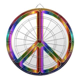 Colorful Peace Sign Dartboards